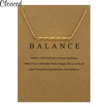 Cloaccd New Fashion Gold Color Balance Wood Straight Bar Alloy Snake Pendant Necklace for Women Party Clavicle Chain Necklace