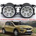 Para Renault SANDERO STEPWAY Hatchback 2009-2015 estilo Do Carro amortecedor dianteiro Faróis de neblina LED de alto brilho luzes de nevoeiro 1 conjunto