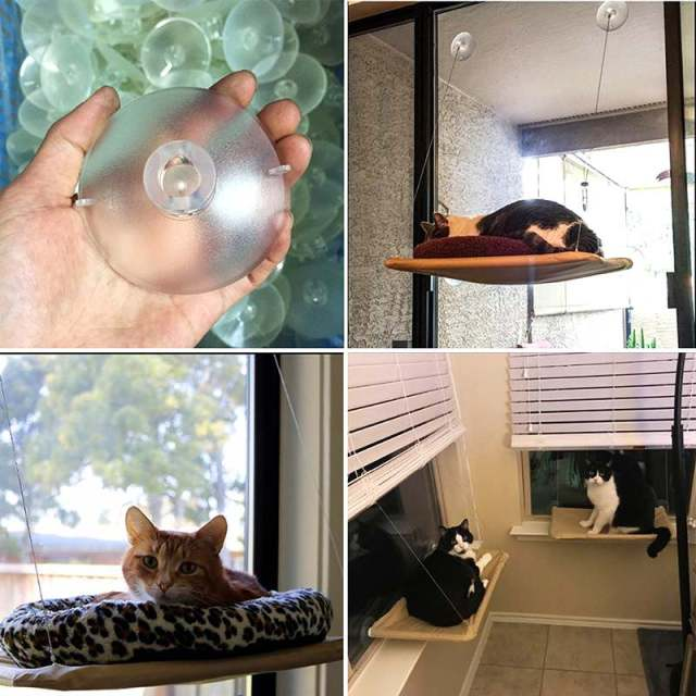 Er Style Cat Hammock Window Basking Perch Cushion Sunny Dog Bed Hanging