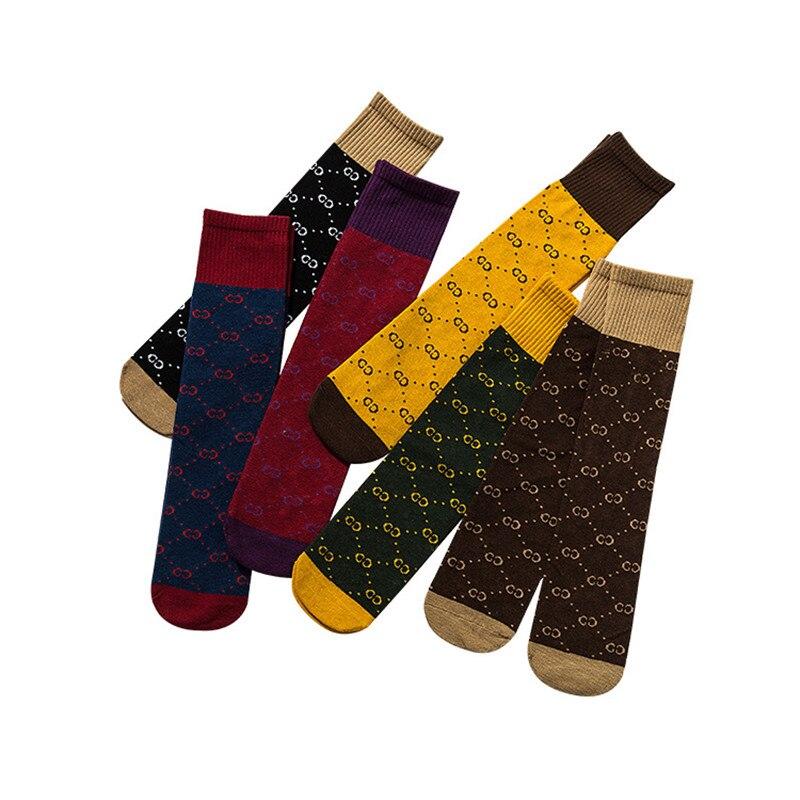 Kids Knee High Socks Girl Boy Cotton Autumn Winter Sport School Socks Children Baby Retro Color Matching Long Tube Leg Warm CN
