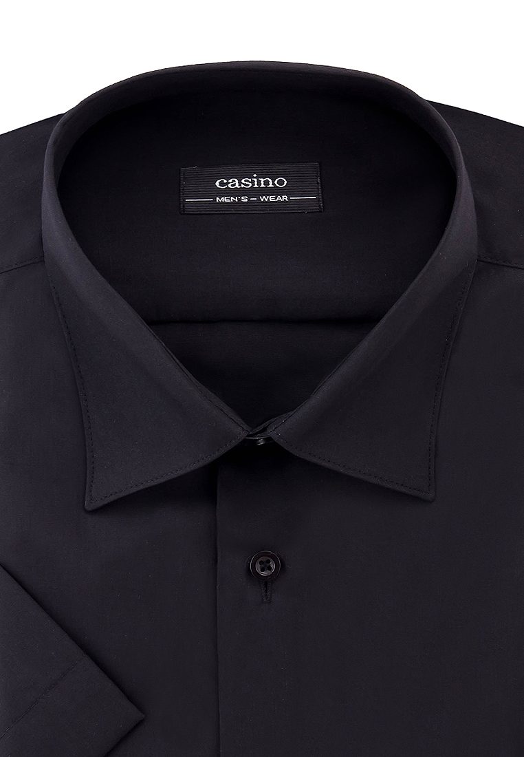 Shirt men's short sleeve CASINO c340/0/026/Z Black combbind c340