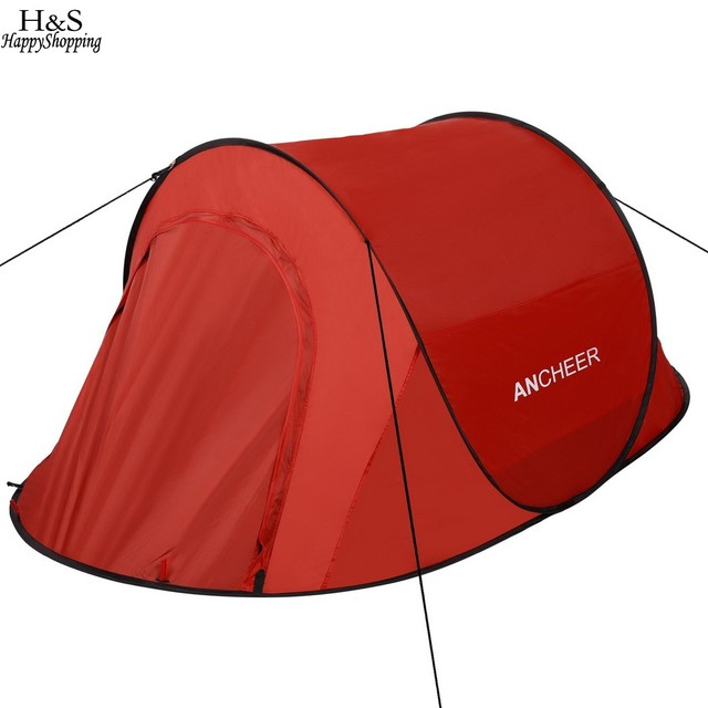 2017 New Ancheer Pop Up C&ing Hiking Tent Automatic Instant Setup Easy Fold Back Shelter summer  sc 1 st  AliExpress.com & 2017 New Ancheer Pop Up Camping Hiking Tent Automatic Instant ...