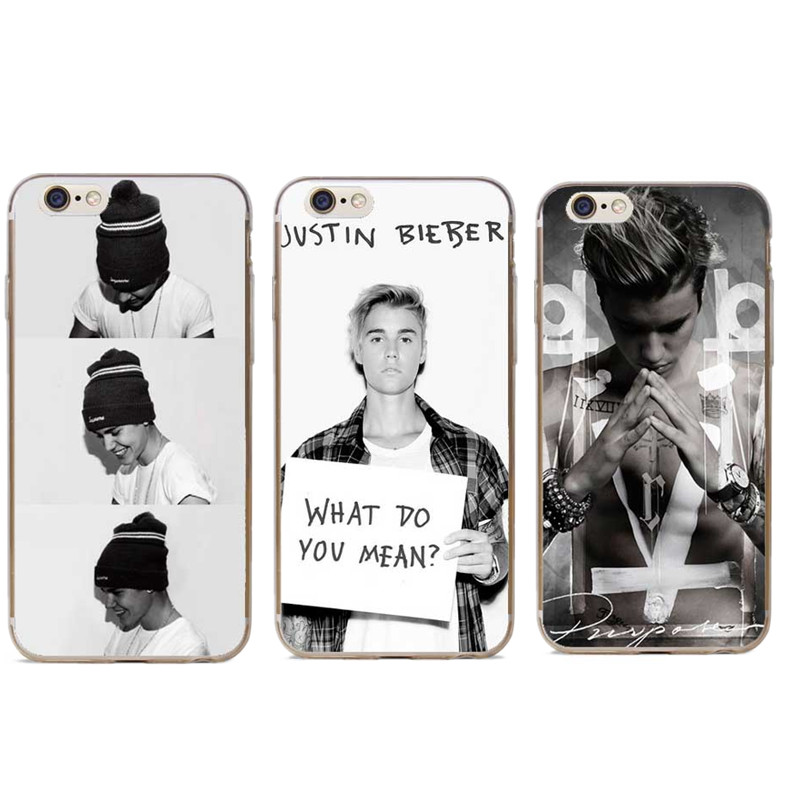 Justin Bieber I will show you Design Transparent plastic hardcover Cove Case For iPhone SE 4 4S 5 5S 5C 6 6S 6 Plus 77Plus Cases