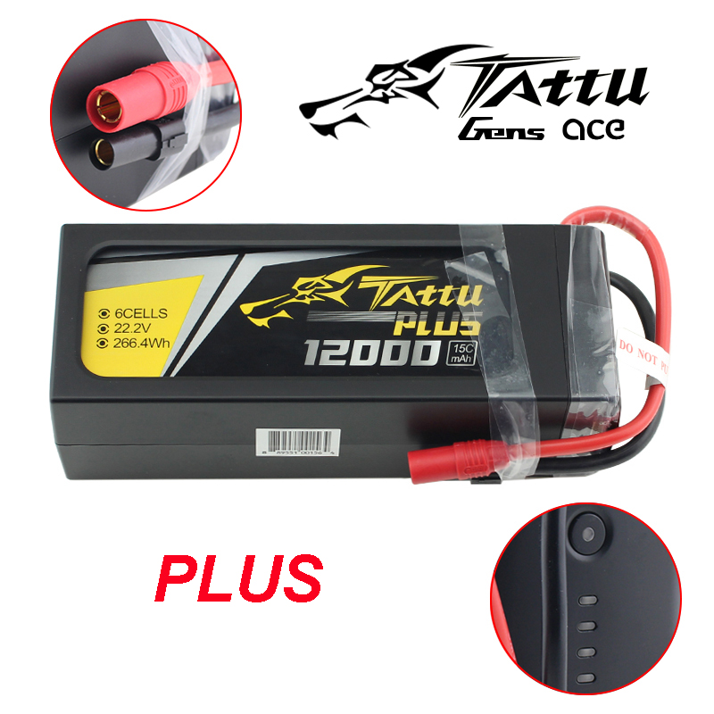 TATTU PLUS <font><b>12000mAh</b></font> PLUS 15C 22.2V 6S1P 6S FPV <font><b>Lipo</b></font> Battery With AS150 Connector Plug For RC Drone image