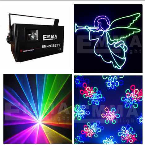 ILDA Laser 1000Mw RGB full color Animation with SD Outdoor LOGO Laser Show Projector with fireworks laser