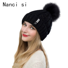 Brand Nanci si Winter Pom Pom Ball Warm Skullies Beanies Hat