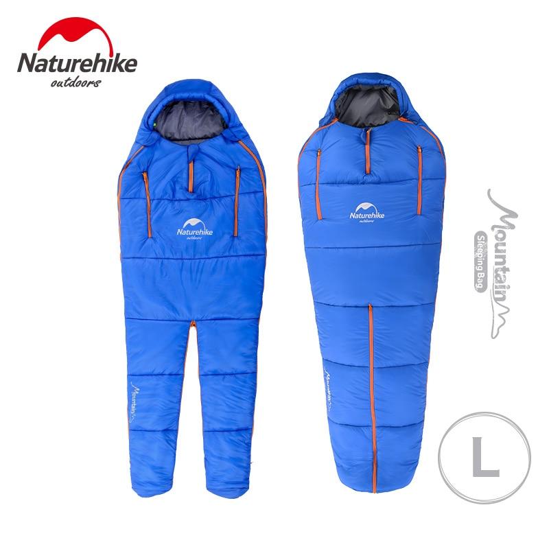 Naturehike Adult Outdoor Humanoid Sleeping Bag Camping Cotton Sleeping Bag Ultralight 4 Seasons Sleeping Bag NH16R200-X цена 2017