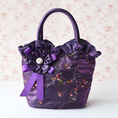 2016 ретро цветы модные сумки высокого класса вышитые ткани мешок руки леди