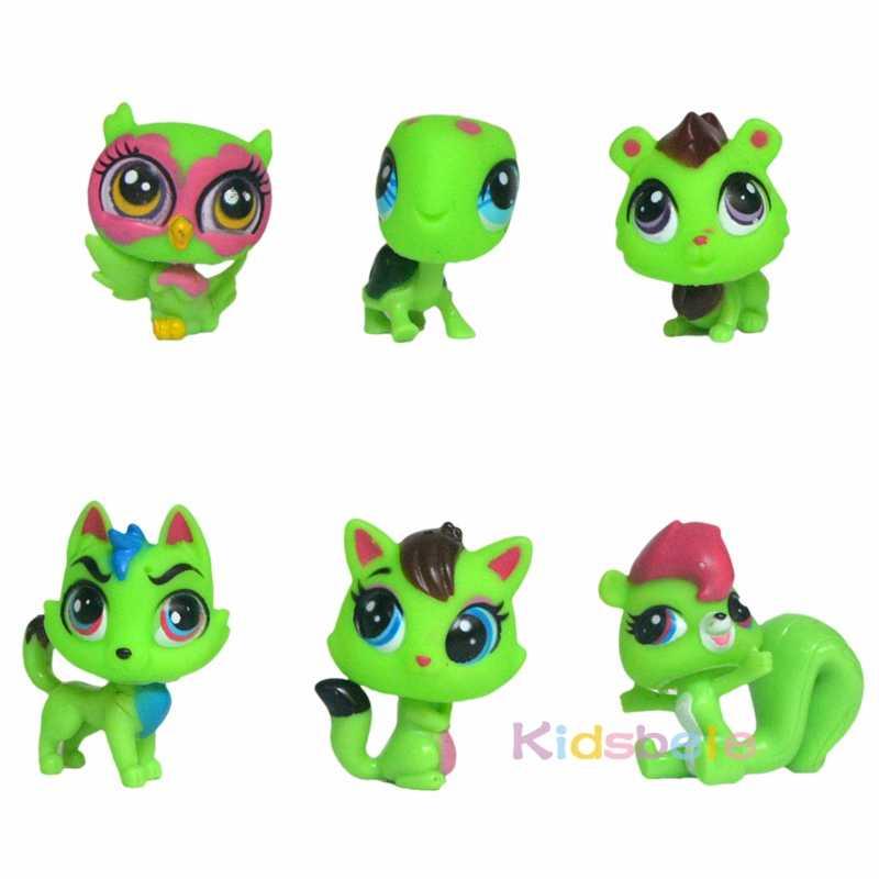 Figura De Acción De Juguete Para Niños 6 Piezas Más Pequeña Muñeca Animal Linda Tienda De Mascotas Perro Gato Anime Colección Niños Juguete Navidad
