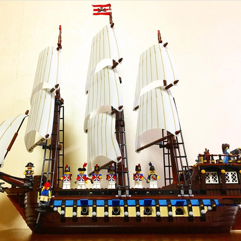 Lepin 22001 1717PCS Pirate Ship Imperial Warship Sets Model Building Blocks Bricks Kits Toys Gifts Compatible With 10210 lepin 22001 pirates series the imperial flagship model building blocks set pirate ship legoings toys for children clone 10210