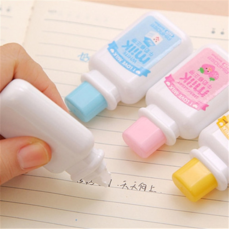 24 Pcs/lot Cute Milk Bottle Shape Correction Tape Set For Student Kawaii Material Escolar Stationery School Supplies