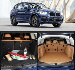 In pelle in fibra di stuoia del tronco auto per bmw x3 2018 2019 2020 bmw x3 g01 cargo mat accessori auto