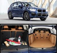 fiber leather car trunk mat for bmw x3 2018 2019 2020 bmw x3 g01 cargo mat car accessories