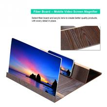 New 12 inch Mobile Phone Screen Magnifying Glass 3D HD Video Amplifier Folding Long Expander Bracket Video Bicycle Car Bracket