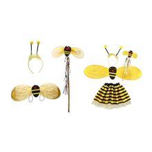 4Pc Bumble Bee Honey Girls Kids Fairy Halloween Fa