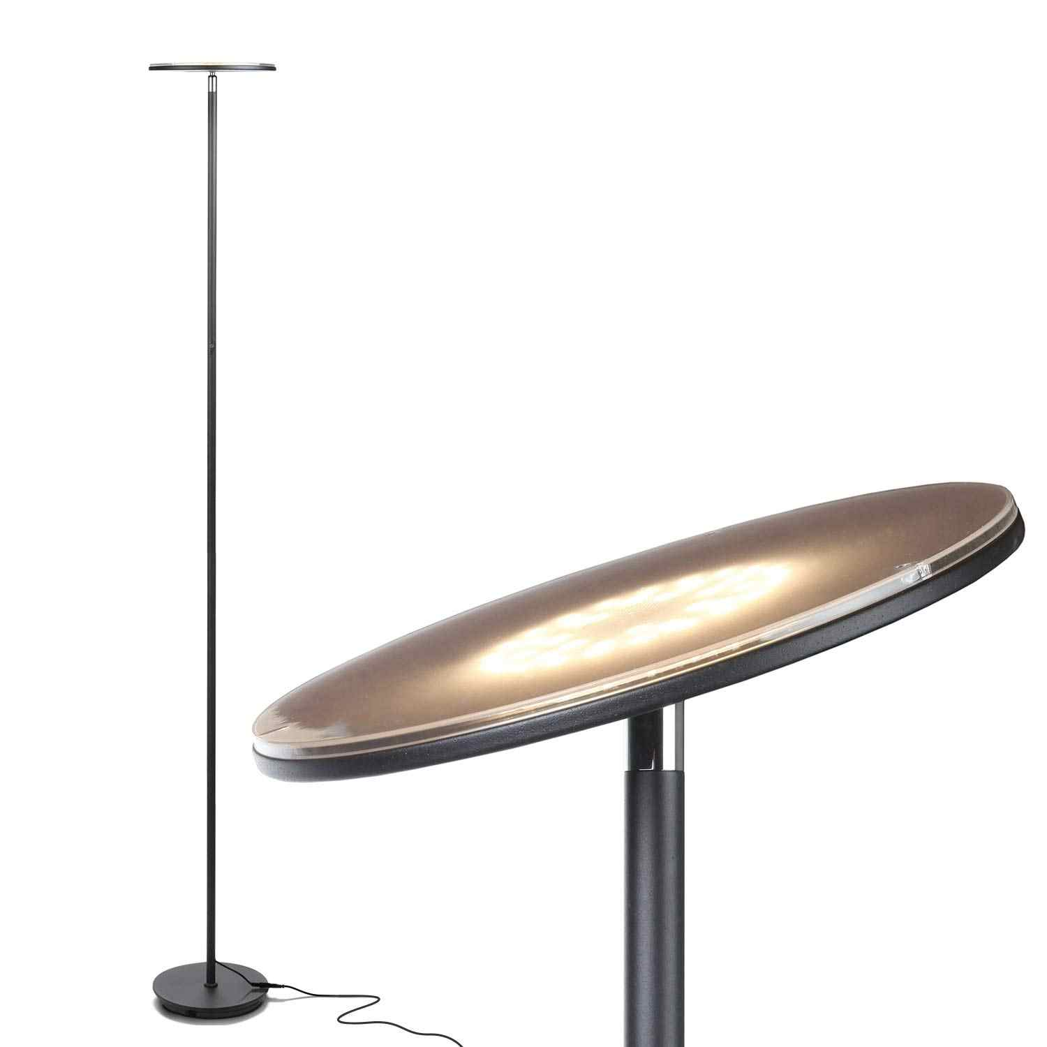 Tall Standing Modern LED Torchiere Floor Lamp for Living Room
