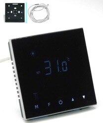 Podwójny czujnik ogrzewanie podłogowe przycisk dotykowy termostat z normą IEC certyfikacji