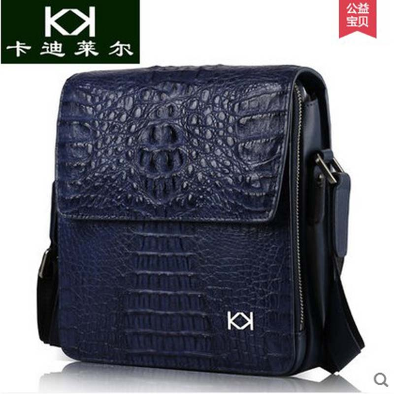 KADILER 2018 new hot free shipping Import crocodile male bag single shoulder bag  vertical business men leather man bag yuanyu 2018 new hot free shipping new import real crocodile single shoulder women bag leisure small women bag