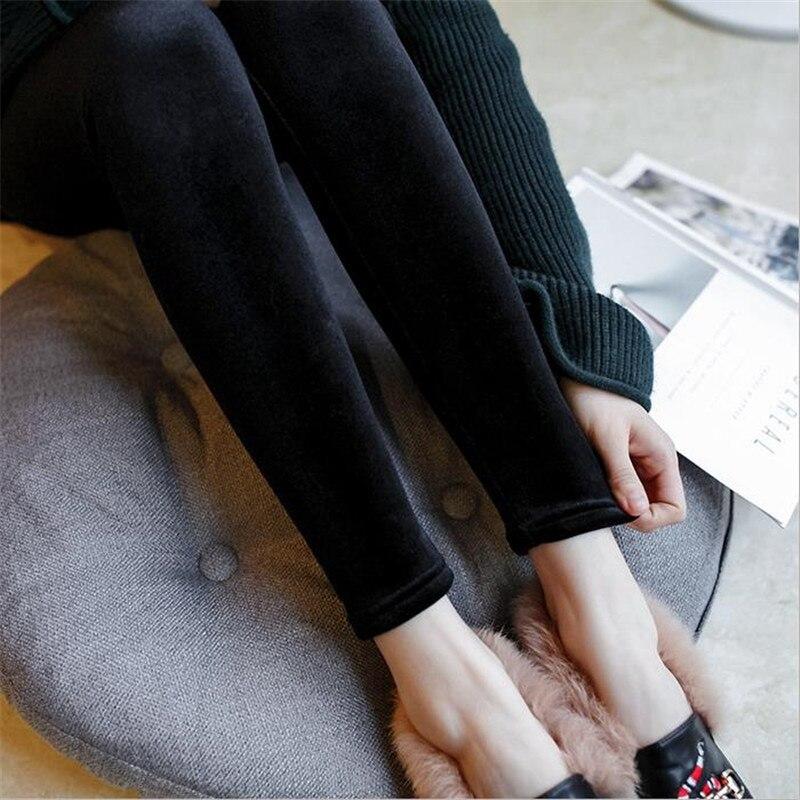 2019 New Autumn Winter   Leggings   Gold Velvet   Leggings   Slim Women Casual   Leggings   Elastic Pencil Pants Ankle-Length Pants D575
