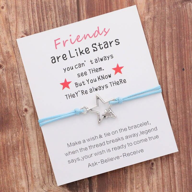 Gift Jewelry Best Friend Bracelet Friendship Bracelet Starfish Wish Bracelet