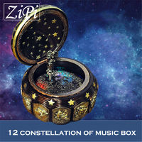 New 12 Constellation Music Box with Led Flashing Lights Musical Boxes for Boy Friend Love Girls Valentine's Day Birthday Gift