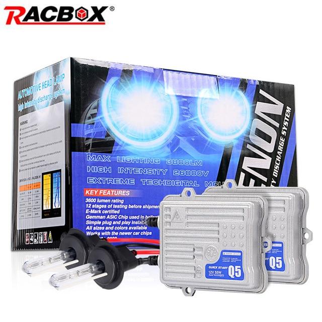 AC 12V 55W Fast Start Ballast Xenon Conversion Kit HID Bulb Headlight H1  90059006 H11 H7 4300k 6000k 8000k Retrofit Replacement-in Car Headlight