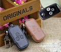 GENUINE LEATHER CAR KEY CASE  FOR HONDA ACCORD 8 CIVIC 3 BUTTON KEY HOLDER WALLET WITH KEY RINGS