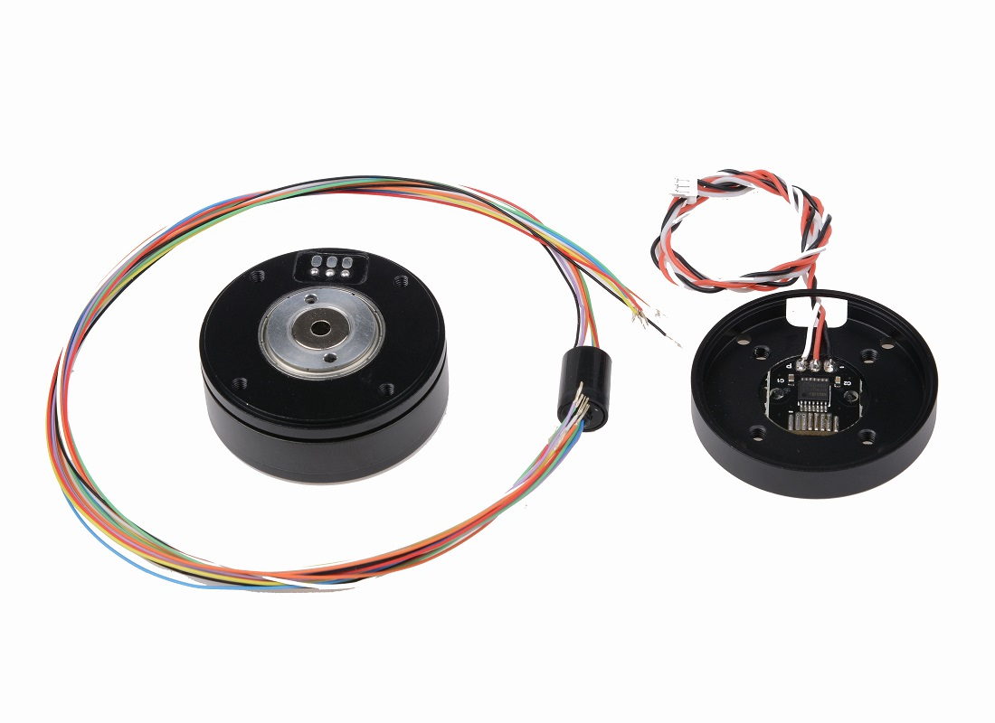 PM3505 Cloud Platform Code Disc Motor Micro Single Band AS5048A Encoder Motor Central Hole Over Slip Ring Collector Ring
