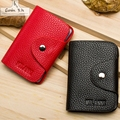 MIWIND 2016 card holder genuine leather business card holder women leather wallet credit card holder book ID card case PT0372