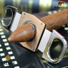 COHIBA portable double-edged cigar scissors stainless steel  cigar Cutter knife ultra-thin Gadgets For Men  JT115SK