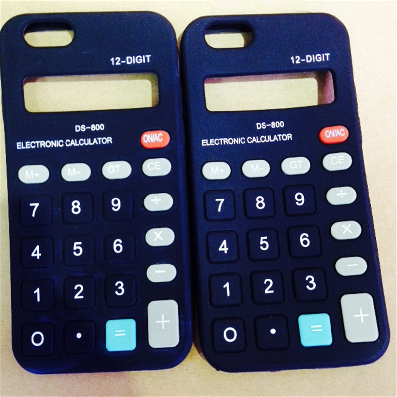 font b Calculator b font model silicon material soft phone Case for apple iphone 5