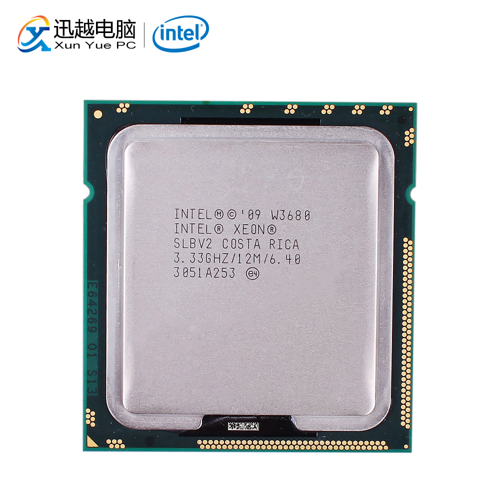 Intel Xeon W3680 Desktop Processor Six-Core 3.33GHz L3 Cache 12MB LGA 1366 SLBV2 3680 Server Used CPU