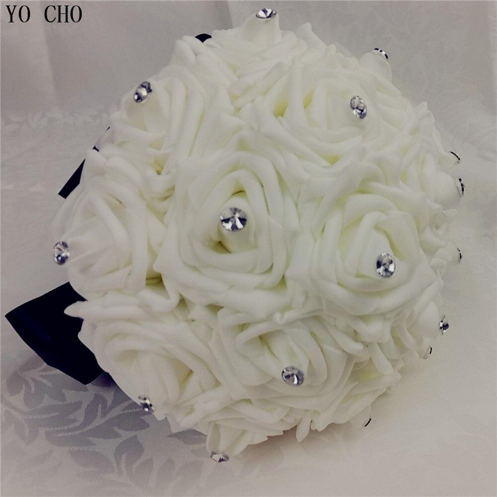 Yo Cho Black Bridal Wedding Bouquet Customized White Wedding Flowers