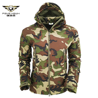 V5 Shark Skin Soft Shell Military Tactical Jacket Men Waterproof Windbreakers Army Fleece Camouflage Hooded Jacket Coats S 3XL