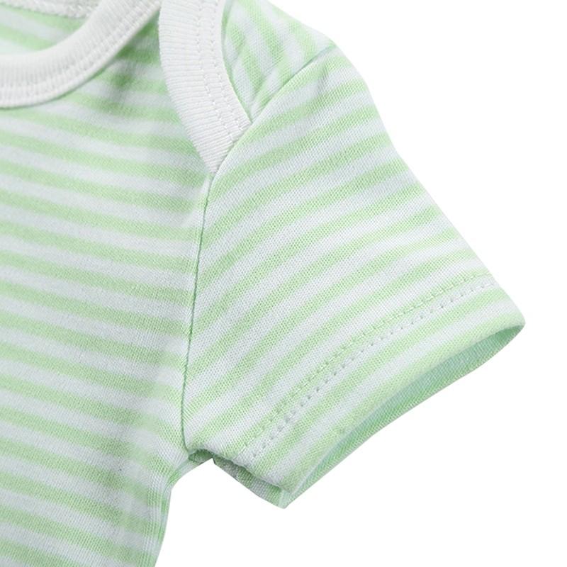 3 Pieceslot Baby Fashion Striped Short Sleeve Rompers Children Jumpsuit Newborn Boys Girls Clothes Body Roupa de Overalls (66)