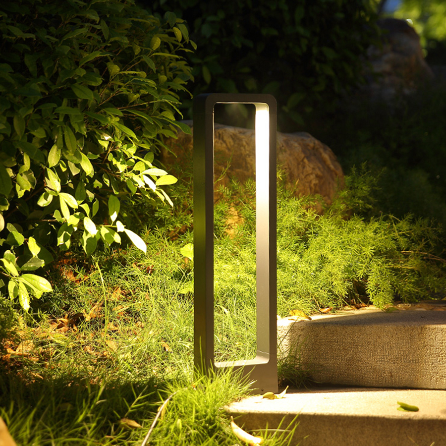 Image 4 - Thrisdar 10W LED Garden Pillar Lawn Light Villa Park Stand Post Lawn Lamps Outdoor Landscape Pathway Patio Lawn Bollard Light-in Lawn Lamps from Lights & Lighting