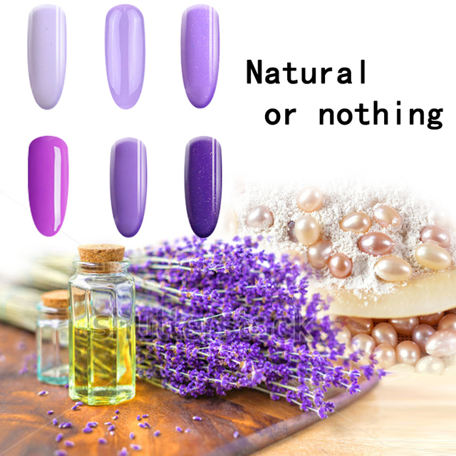 TREEINSIDE natural pure Healthy brand-Lavander extracted nail gel polish need uv led lamp to cure green safe healthy brand color