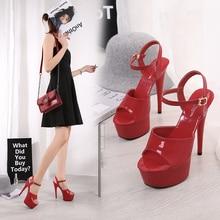 Sandals Shoes Woman Thin Heels Platform 2020 Beach Sexy Sandals Wedding Shoes Steel Tube Dancing Girl Stripper Shoes Open Toe