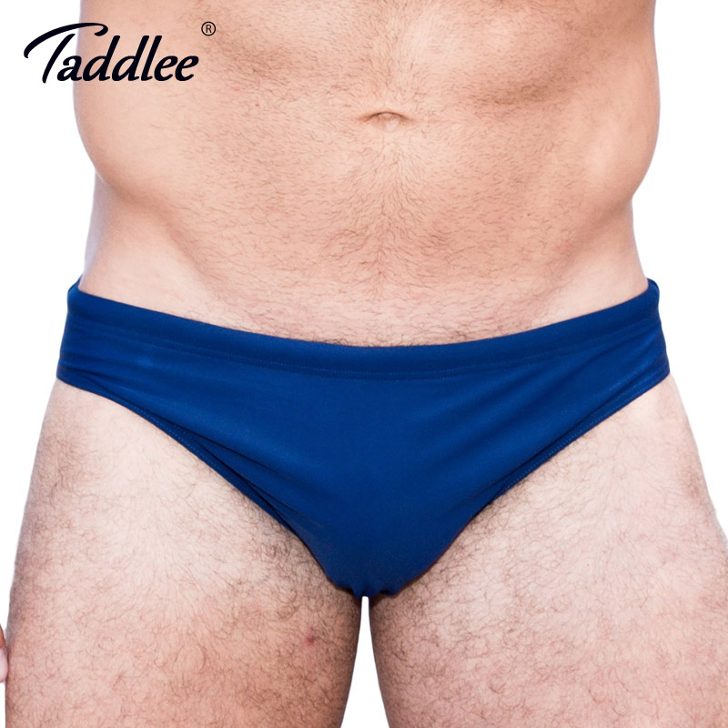 157030a689 Taddlee Brand Sexy Men's Swim Briefs Bikini Gay Men Swimwear Low Rise Solid  Swimming Surf Board Swimsuits Sports Bathing Suits