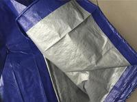 Light Thin 100g 4mx6m Blue And Gray Color Tarpaulin Short Time Waterproof Canvas Outdoor Dust Cloth