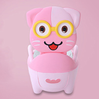 Cute Cat Baby Toilet Training Potties Portable Convenient Children's Training Pan Toilet Seat PP Cartoon Bedpan for Kids Urinal