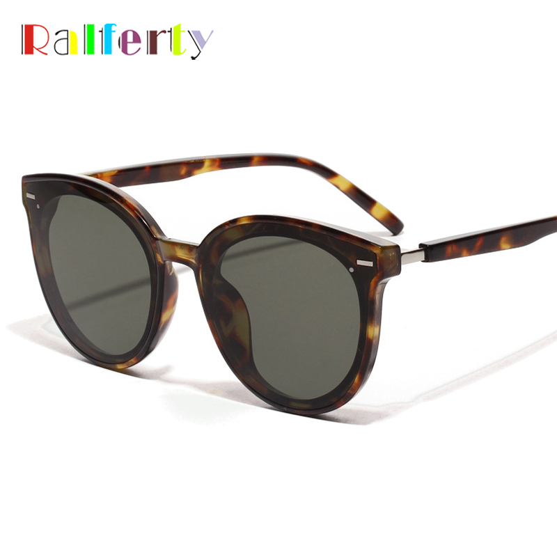 Ralferty Korea Fashion Sunglasses Women 2019 Luxury Ladies Sun Glasses UV400 Coating Glasses Shades For Women Lunette W181204