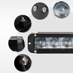 Image 5 - XuanBa 4D Objektiv 11 Inch 60W Led Arbeit Licht Bar Für Motorrad Atv Suv Lkw 12V Fahren Lampe 24V Spot Combo 40 4x4 Off Road Bar