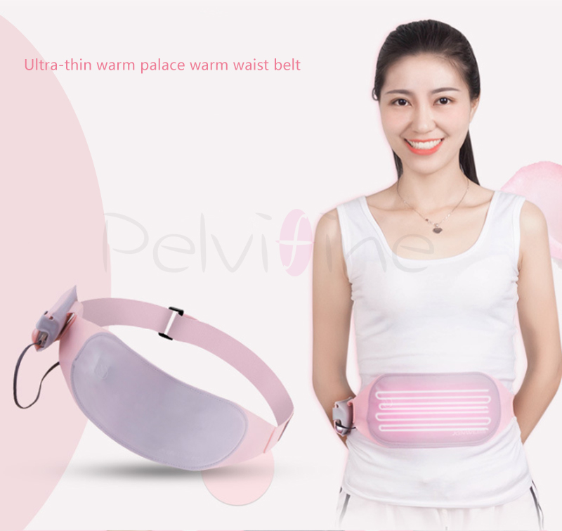 Pelvifine Ultra-thin portable Electronic infrared heating belt ease women dysmenorrhea Warm waist support massage belt