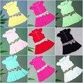 Liquidación de verano vestidos del bebé de la marca de deporte princesa plisada tennis dress for girls infantiles ropa de algodón a cuadros clásico británico