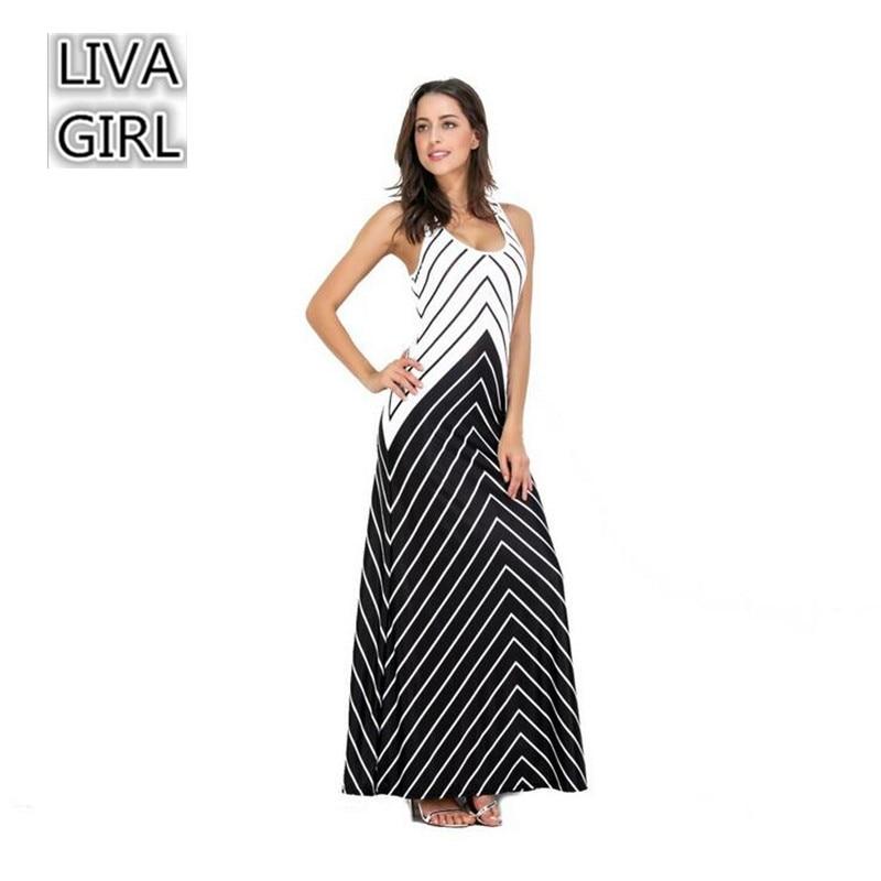 Fashion Long Party Dress 2017 Summer Tank Dress for women Beach Boho Maxi Dress High Quality Brand Striped Long Dresses Feminine