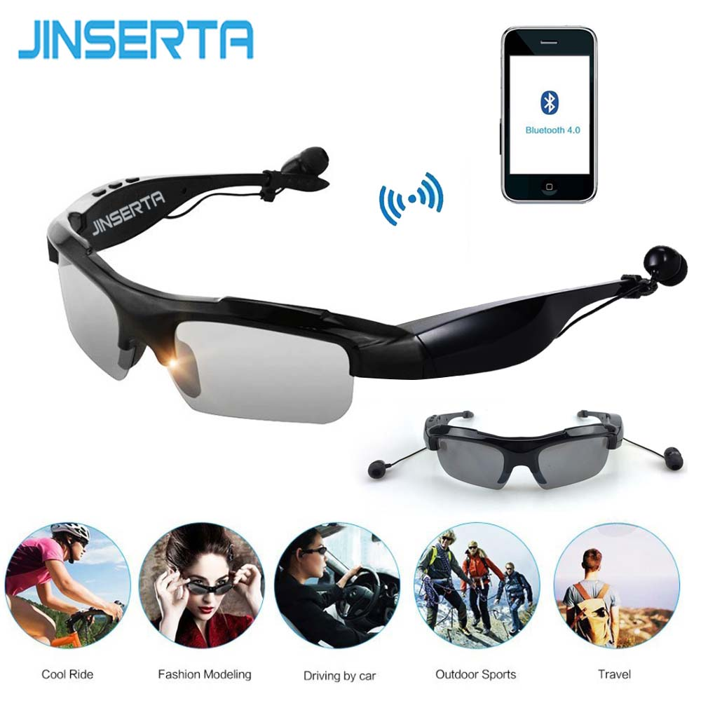 JINSERTA Smart Bluetooth Sunglasses Outdoor Sun Glasses Wireless Bluetooth Earphones Earbuds Music for Smart Phones вешала sun music sh539d