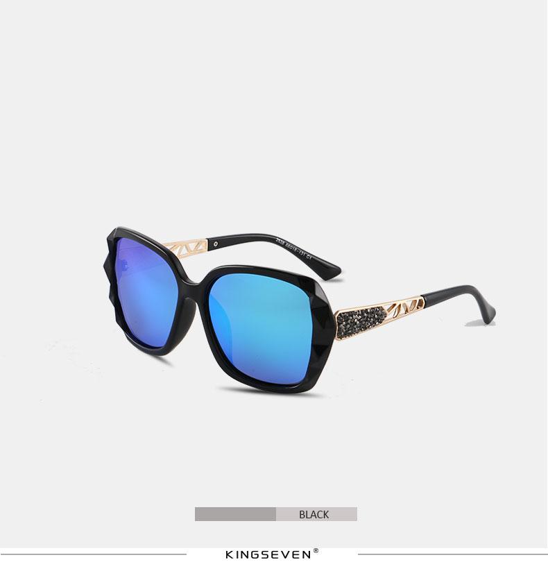 KINGSEVEN Sunglasses Women Gradient Polarized Diamond Frame Sun Glasses For Driving Luxury Lady Shades Eyewear Accessories 7538 12
