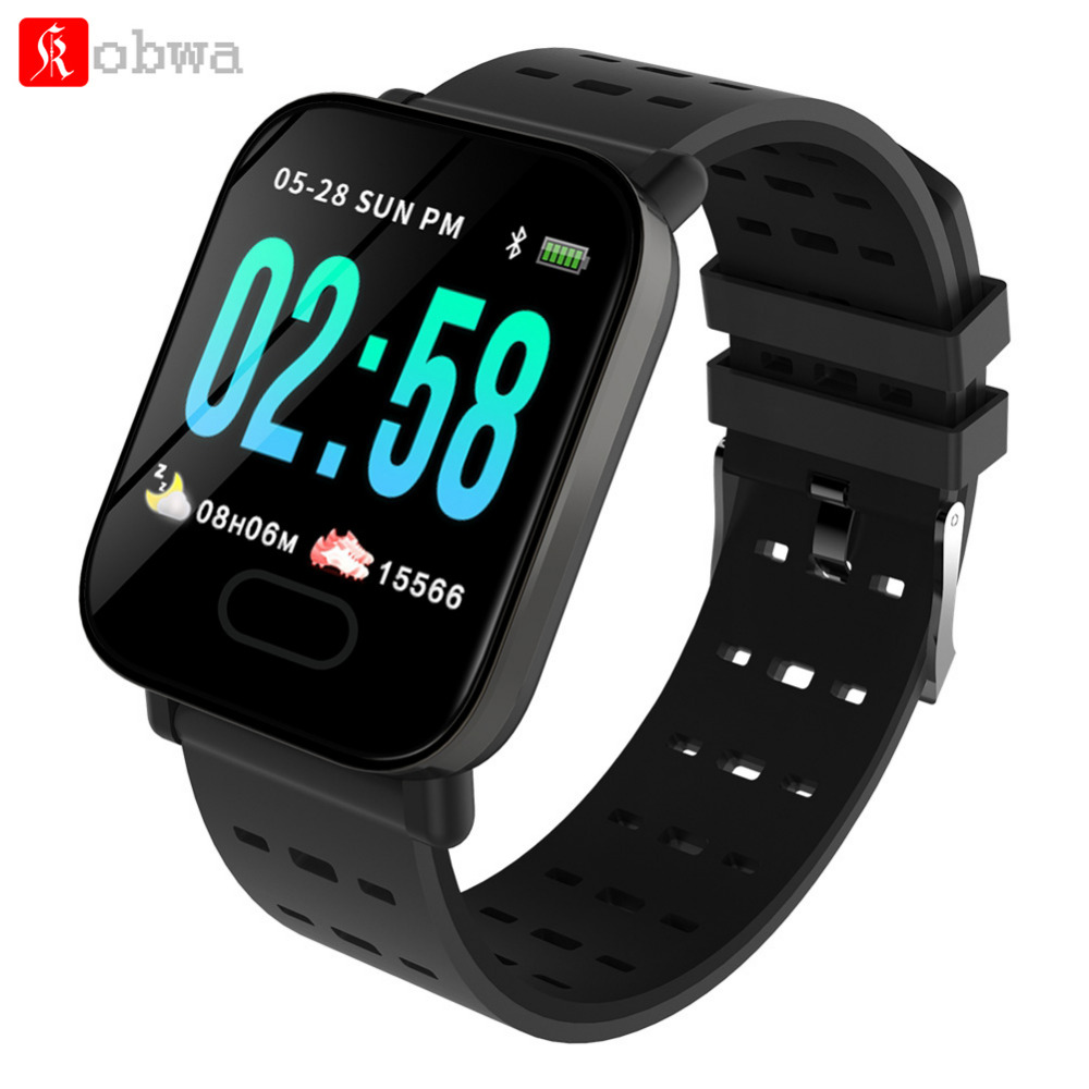 Kobwa M20 Smart Watch Android IOS Heart Rate Smart Bracelet Sleep Monitor Fitness Tracker Blood Pressure Band with Color Screen