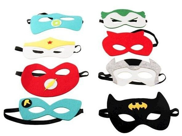 Superhero mask Cosplay Superman Batman Spiderman Hulk Thor Princess ...